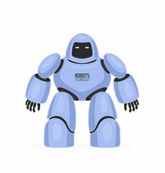 Blue robot vector