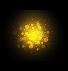 bokeh golden lights background christmas concept vector image