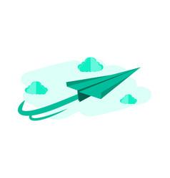 cartoonist 3d paper plane background concept vector image