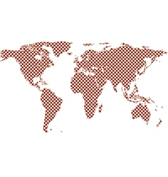 Checkered world map vector image