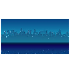 City Skyline waterfront Night vector