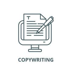 copywriting line icon linear concept vector image