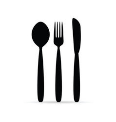 cutlery in black color design art vector image