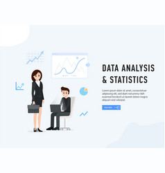 data analysis and statistics poster vector image