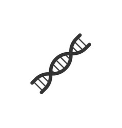 dna genetics line icon simple modern flat for vector image
