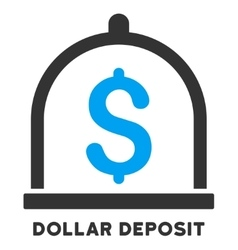 Dollar Deposit Icon With Caption vector