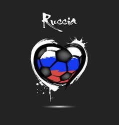 flag of russia in the form of a heart vector image