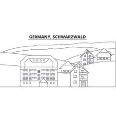 Germany schwarzwald line skyline vector