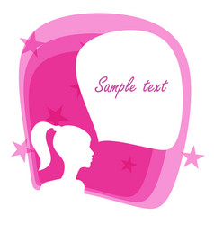 girl with a speech bubble vector image