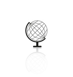 globe sketch icon reflection vector image