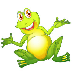 Happy frog on white background vector