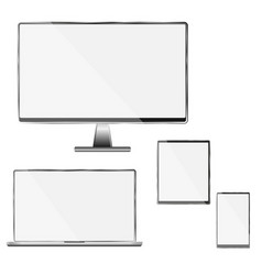 high quality set of white - black mod vector image