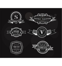 Hipster vintage logo elements set vector