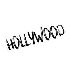 hollywood rubber stamp vector image