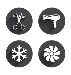 Hotel services icon Air conditioning Hairdryer vector image