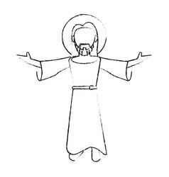 Jesus christ devotion sacrifice image sketch vector