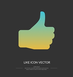 Like icon vector