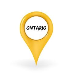 Location Ontario vector image