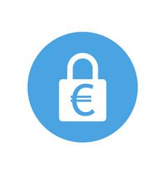 lock icon padlock sign euro finance protection vector image
