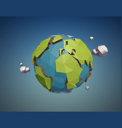 Low poly earth vector