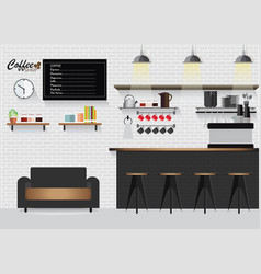 modern flat design coffee shop vector image