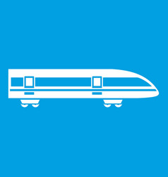 Modern high speed train icon white vector