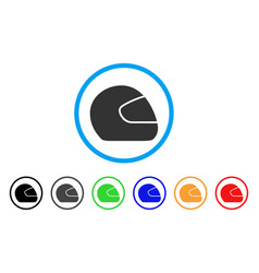 Motorcycle helmet rounded icon vector