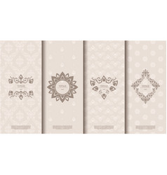 packaging exotic thai pattern element concept vector image