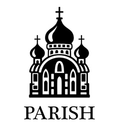 Parish church vector image