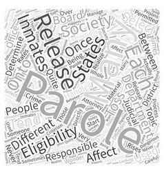 Parole Word Cloud Concept vector