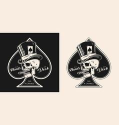 poker vintage monochrome emblem vector image