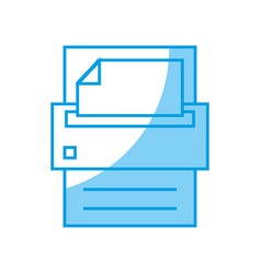 printer icon image vector image