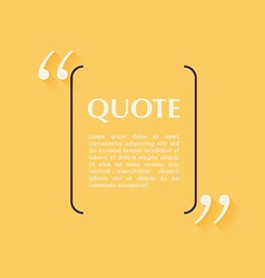 Quote blank template Design elements circle vector image