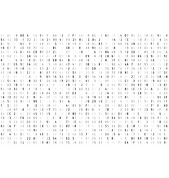 random hex code stream matrix background isolated vector image