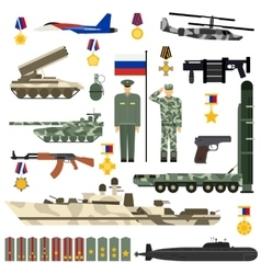 Russian Army set vector image