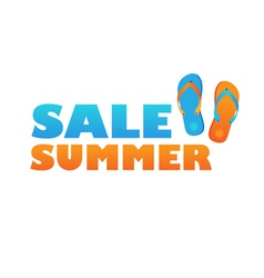 sale summer vector image