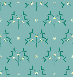 seamless mistletoe pattern vector image