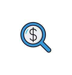 search money icon vector image