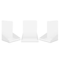 set cardboard display boxes mockups vector image