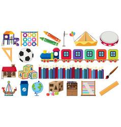 set children learning equipment vector image