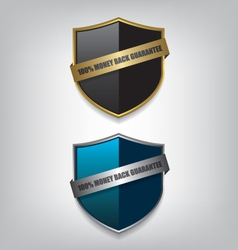 Shield guarantee badge vector image