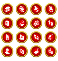 Shop navigation foods icons set simple style vector