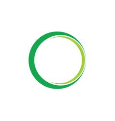 Simple 3d ring geometric logo vector