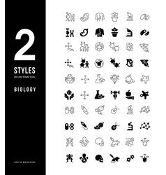 simple line icons biology vector image