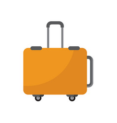 simple traveler luggage vector image