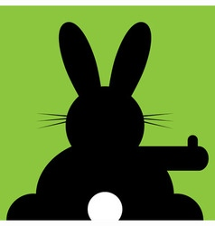 sitting and hitchhiking bunny vector image