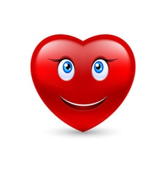 Smiling heart vector