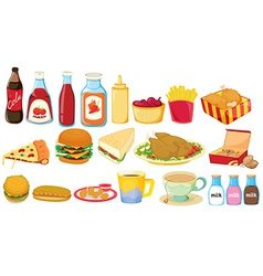 Snack foods vector image
