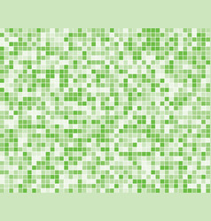 The light green square mosaic tiles background vector
