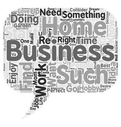 The perfect Home Business Is it right for you text vector image
